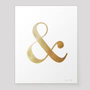 ampersand metallic gold