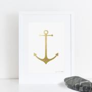 Gold Minimal Anchor