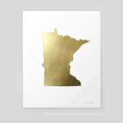 state of minnesota metallic gold leaf