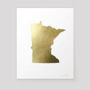 state of minnesota metallic gold leaf