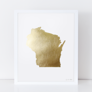 stateofwisconsingold-framed